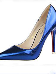 Plataformas / Saltos (Preto/Azul/Rosa/Prateado/Dourado/Vinho) - MULHERES Saltos/Dedo Apontado/Dedo Fechado - Salto Alto - Courino
