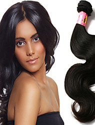 "3 Pcs/Lot 8""-34"" Chinese Unprocessed Virgin Hair Natural Black Color Body Wave Hair Weft. Free Tangle Free Shipping!"