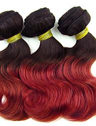 "3pcs / lot 8 ""brasileiro 1b cabelo virgem / 700s cabelo ombre ondas curtas corpo humano preço barato por atacado"