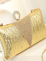 Women 's Suede/Other Leather Type Baguette Shoulder Bag - Pink/Gold/Silver/Black