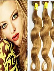 "3PCS/LOT Human Hair Weave Lighter Brown Blonde Virgin Hair Honey Blonde Brazilian Virgin Hair Body Wave 8""-34"""