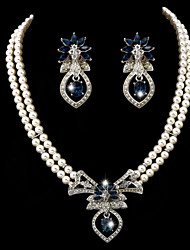 Women's Rhinestone Imitation Pearl Wedding Jewelry Set