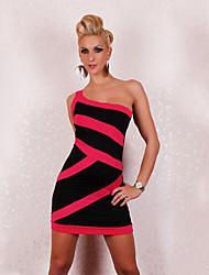 Vestidos ( Vermelho/Branco , Algodão/Poliéster , Salão de Baile/Roupas de Balada ) - de Salão de Baile/Roupas de Balada - Mulheres