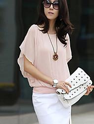 Women's Sexy/Casual  Ruffle Short Sleeve Shirt(Chiffon)