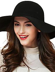 Women Wool Floppy Hat , Vintage/Casual All Seasons