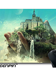 SEENPIN Personalized Castles Moon Waterfalls Astract Art Hands Fantasy Mouse Pads