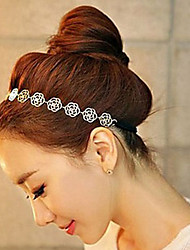 Alloy Hollow Rose Headband