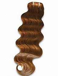1pc / lot 18inch / 45cm 150cm de ancho 100g / pack multicolors extensión onda del cuerpo de la trama del pelo humano grade5a extensión del
