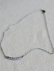 Lureme Crystals Bar Necklace