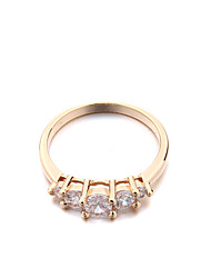 Women's Brass Fashion 1 row CZ Ring(More Colors)