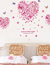 Wall Stickers Wall Decals, Love Butterflies PVC Wall Stickers