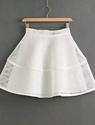 De las mujeres Faldas - Mini Sexy/Casual/Fiesta Rígido - Malla