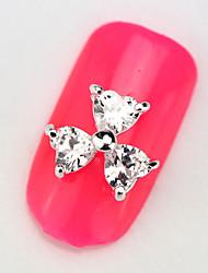 2015 New 10PCS RG018 Luxury Zircon 3D Alloy Nail art Decoration with Chain Diamond Finger Salon Accessories Supplier