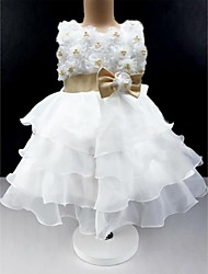 Ball Gown Knee-length Flower Girl Dress - Cotton/Tulle Sleeveless