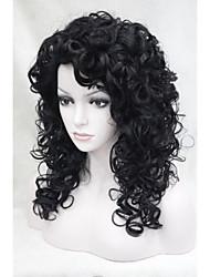 nova moda cosplaycharming cabeleira encaracolada sintético 50 centímetros de mulheres negras