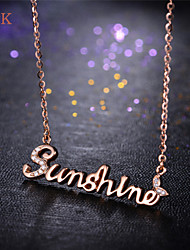 OPK®Ms Elegant Letter Personality Sunshine Mood Necklace Best Gift