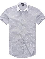 U&Shark Casual&Fashion Men's  Short Sleeve   White Collar Shirt  /DXBL016
