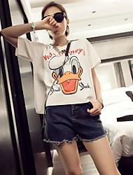 Camiseta ( Algodão ) Casual - Média - Padrão