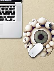 o mouse pad projeto decorativo globo ocular