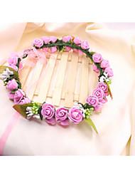 Couronnes Casque Mariage Tissu/Plastique Femme Mariage