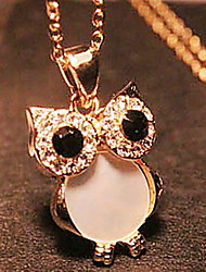 Vintage/Cute/Party/Work/Casual Alloy/Rhinestone Pendant Necklace