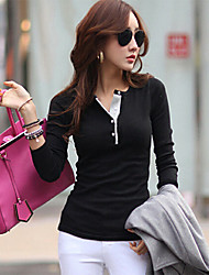 Women's Long Sleeve Slim Fitting  Long Sleeve  Blouse