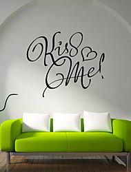 наклейки наклейки для стен, поцелуй меня английские слова&цитирует наклейки стены PVC