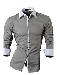 Taylor Men's Shirt Collar Casual Shirts , Cotton Blend Long Sleeve Casual