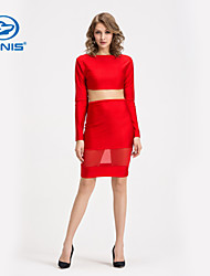 CANIS@Sexy Women's Lace Bandage Bodycon Crop Top and Skirt Suit