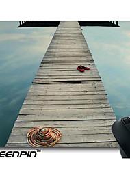 tapis de souris personnalisé seenpin conception de la pile de bois