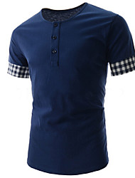 Nuggets,Men's Vintage/Casual/Party/Work Round Short Sleeve T-Shirts (Cotton/Rayon)