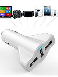 мини три USB зарядка 5В 12В 5200ma сигареты автомобиля зарядное устройство для GPS планшетных мобильных телефонов