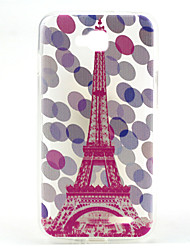 Pink Tower Pattern Ultrathin TPU Soft Back Cover Case for LG L90