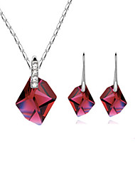 Women Cute / Casual Gemstone & Crystal Necklace / Earrings Sets