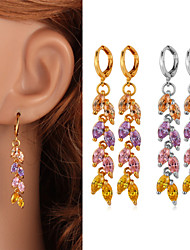 TopGold New AAA+ Cubic Zirconia Dangle Earrings 18K Gold Platinum Plated Zircon Jewelry Gift for Women High Quality