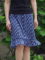Women's Multi-color Skirts , Vintage/Casual/Print/Work/Plus Sizes Mini