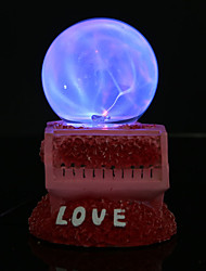 Resin Crystal Ball LOVE Rechargeable LED Lamp