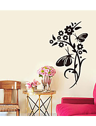 Wall Stickers Wall Decals,Flowers and Butterflies PVC Wall Stickers