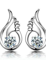 de alta qualidade brincos de prata esterlina chapeamento das mulheres