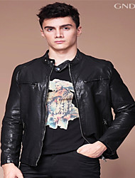 GNDNN bigger sizes customized men sheep leather contracted plant leather leather tanned leather jacket LC120713