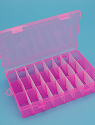 Storage Boxes / Jewelry Boxes / Jewelry Storage Box / Jewelry Organizers / Makeups Storage Plastic with 24 grids , Feature is Lidded , For