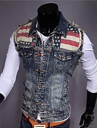 Men's Fashion Spell Water Wash Slim Denim Vest