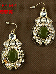 European and American style retro jewelry diamond earrings female exaggerated luxury accessories