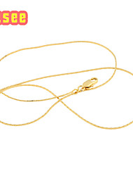 """18K Yellow Gold Plated Gold wire Design  Necklace  length 46cm/18"""""""