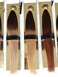 """punta nano extensiones de cabello extensiones de cabello anillo nano lazo nano ombre 1g / s 12 """"-26"""" 1g / s 100 g 100beads humana + indio"""