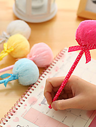 Plush Ball Design Ball Pen(Random Colors)