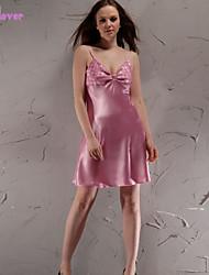 Damen Babydoll & slips / Hemden & Kleider / Roben / Satin & Seide / Besonders sexy / Anzüge Nachtwäsche einfarbig-Seide / Polyester /