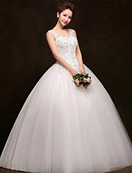 Ball Gown Wedding Dress Floor-length Scoop Tulle with