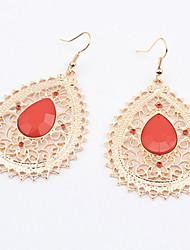 Earring Drop Earrings Jewelry Women Alloy 1set Black / Red