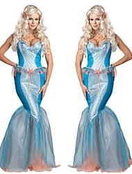 Beautiful Mermaid Blue Female Cosplay Costumes